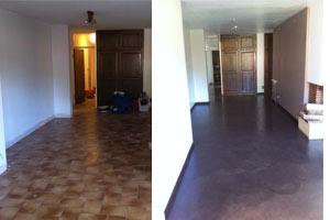 B ton cir r sine cuisine salle de bain salon - Pose beton cire sur carrelage ...